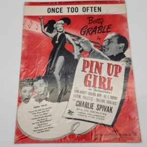 Vintage Betty Grable  Pin Up Girl Sheet Music
